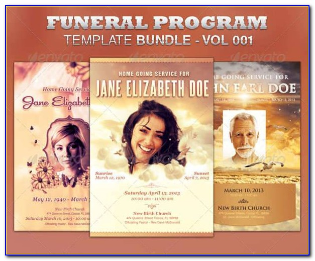 Funeral Flyer Template Free