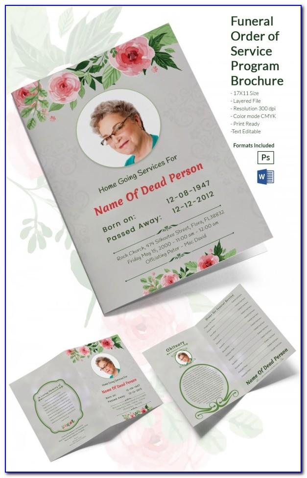 Funeral Program Template Free Download Mac