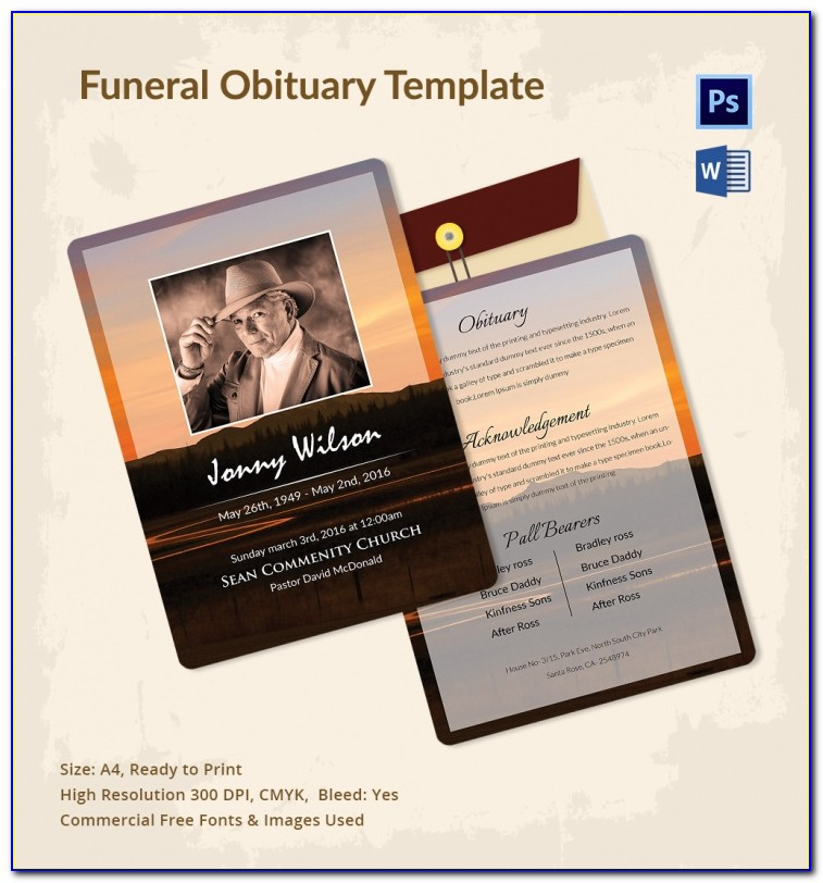 Funeral Program Template Mac Free