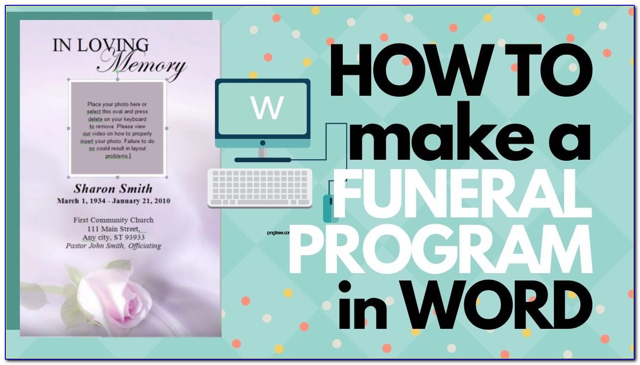 Funeral Program Template Microsoft Word Free