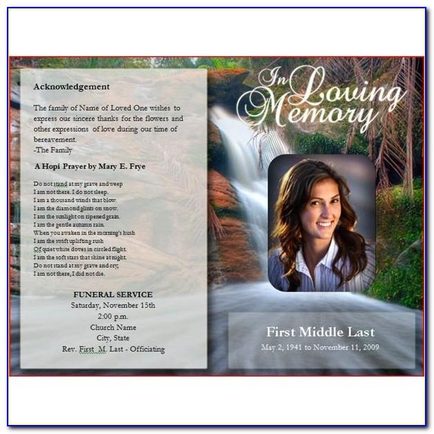 Funeral Program Template Publisher Download