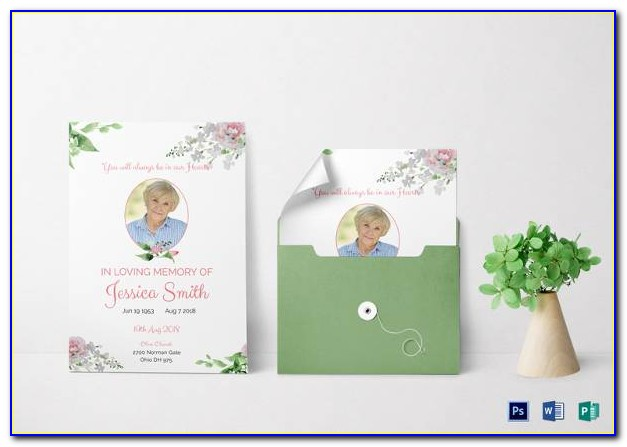 Funeral Program Templates Download