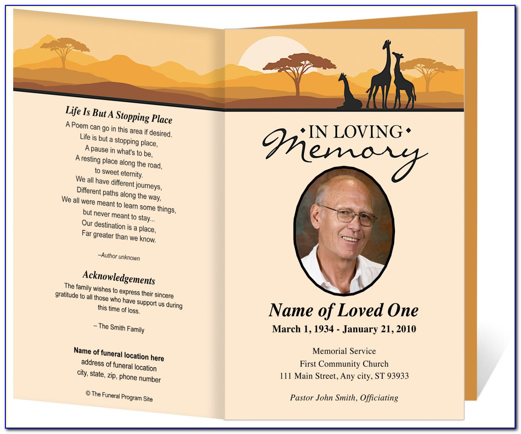 Funeral Program Templates Free Printable