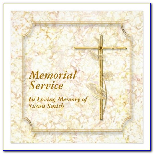 Funeral Program Templates Word
