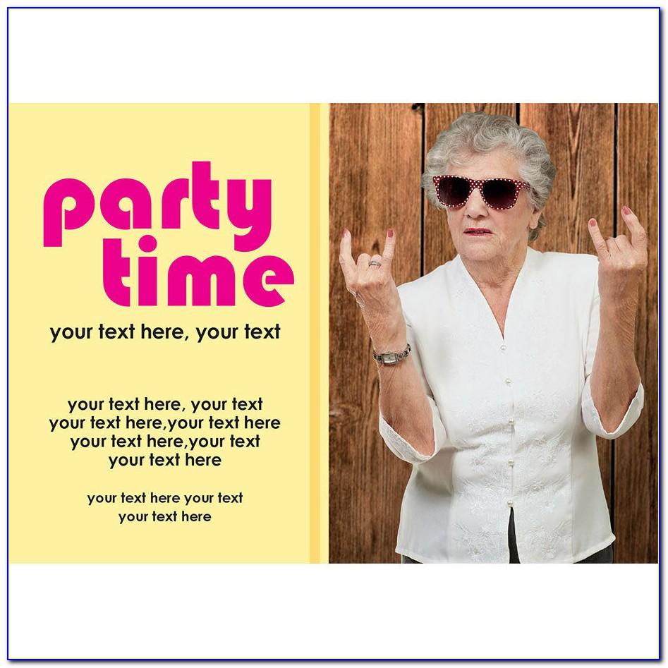 Funny 60th Birthday Invitations Templates