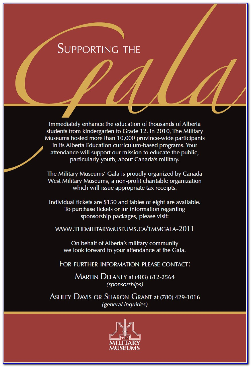 Gala Dinner Invitation Letter Sample