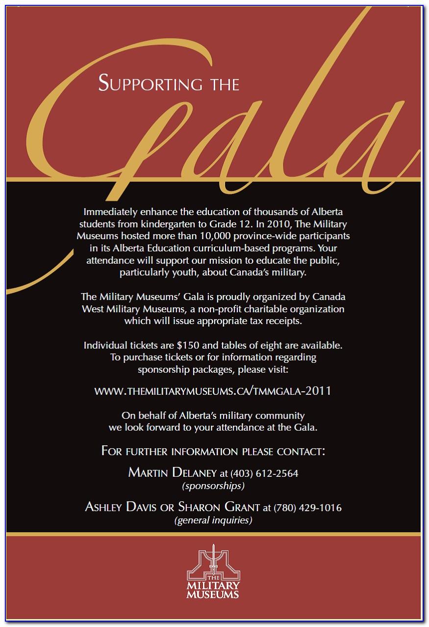 Gala Dinner Invitation Letter Sample