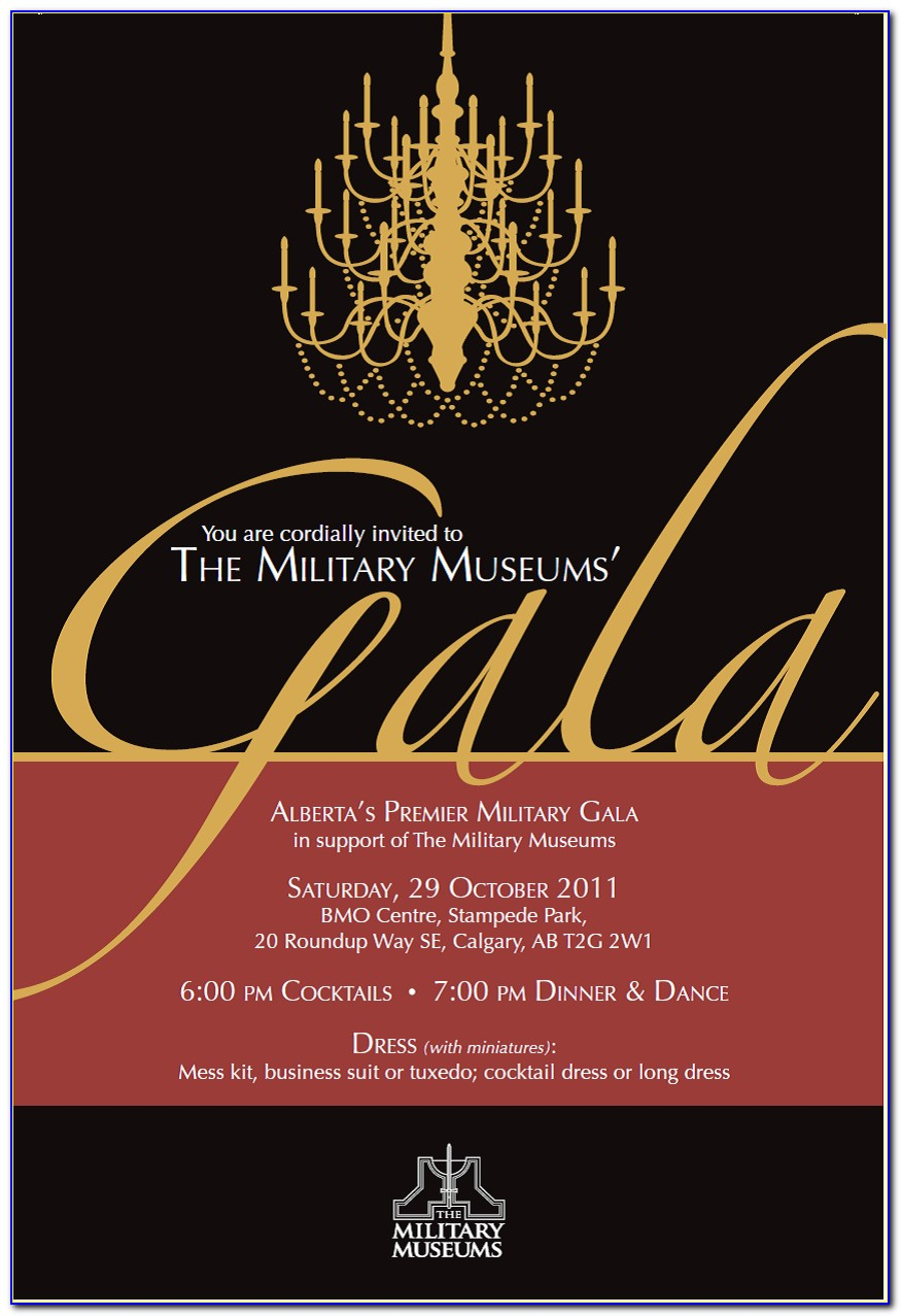 Gala Dinner Invitation Sample
