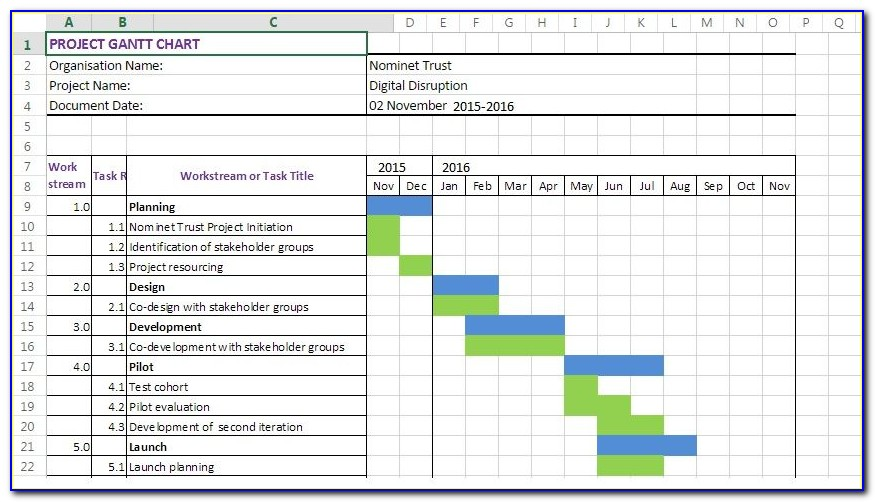 Gantt Chart Excel 2007 Template Download