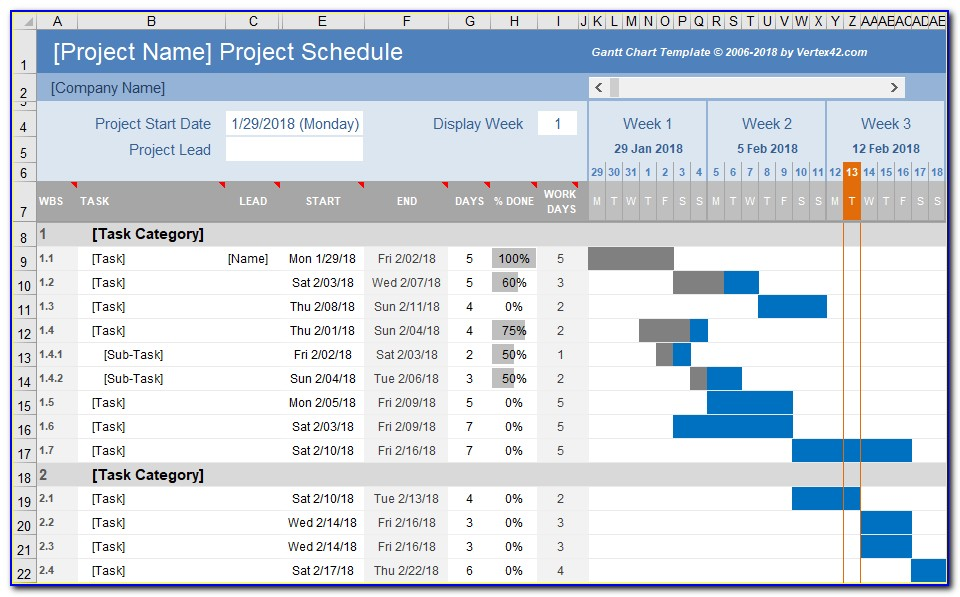 Gantt Chart Excel Template Download Xls