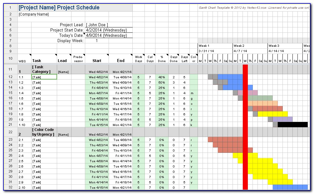 Gantt Chart Excel Template Free Download Mac