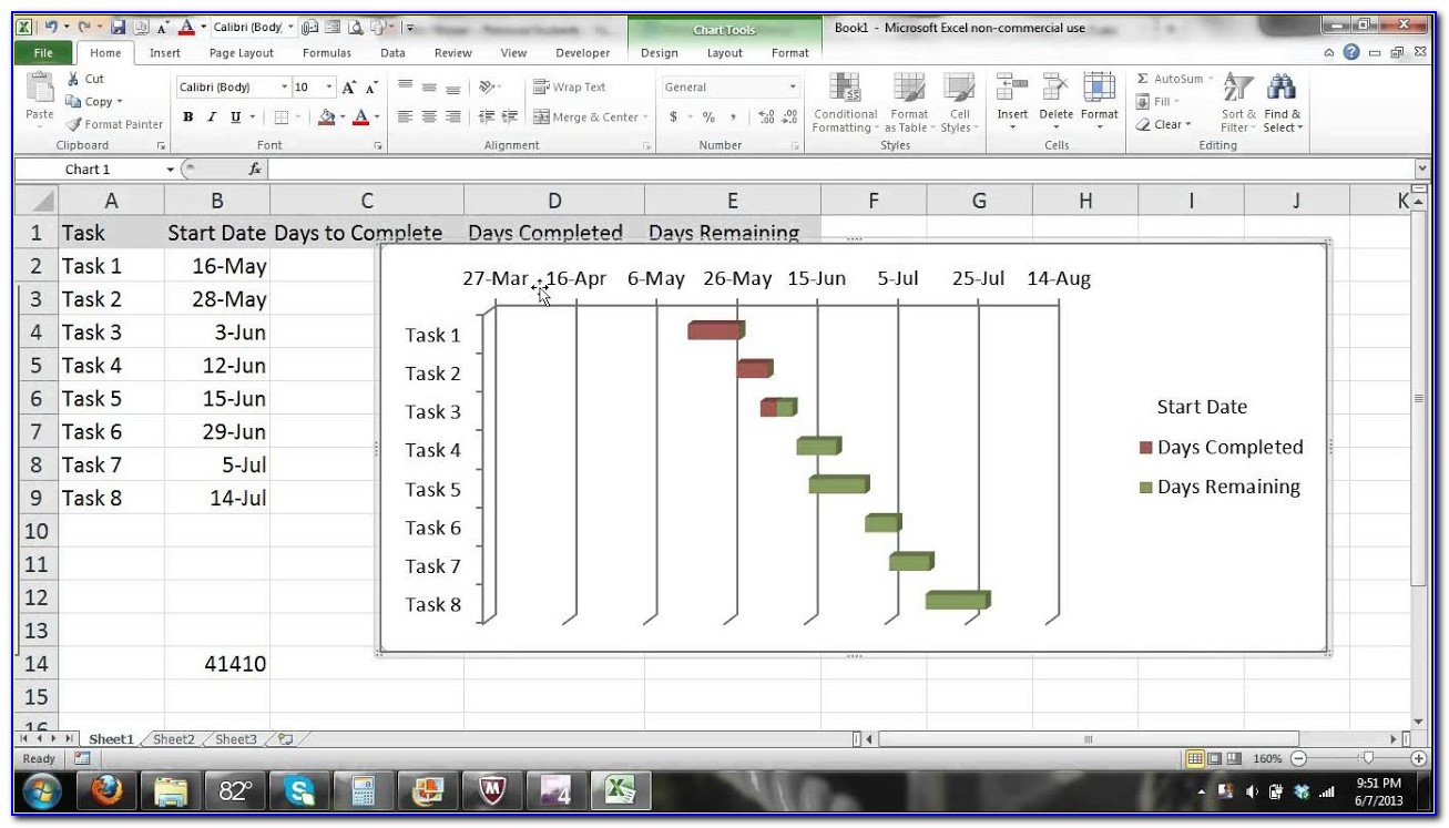 Gantt Chart Microsoft Excel 2007