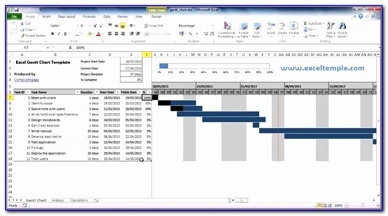 Gantt Chart Template Excel 2007 Free
