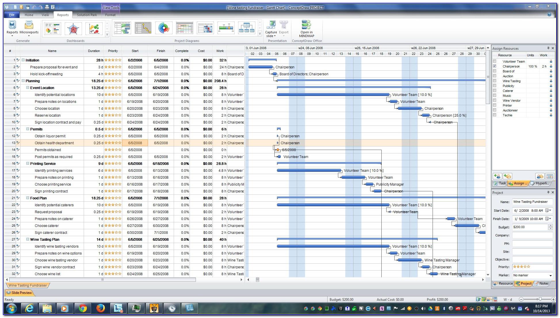 Gantt Chart Template For Mac Numbers