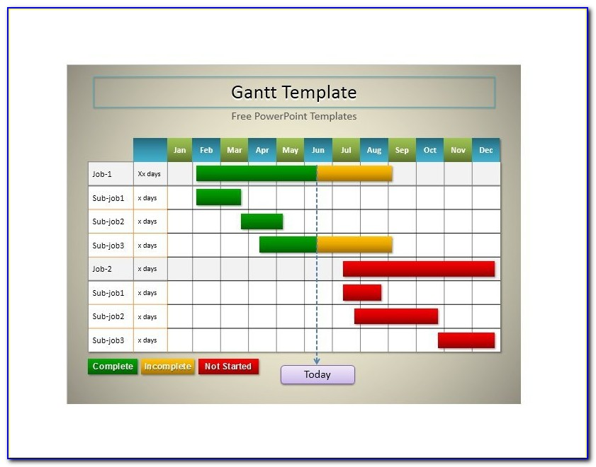 Gantt Chart Template For Powerpoint 2010
