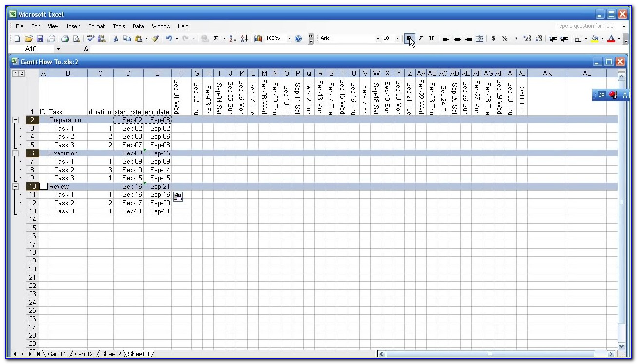 Gantt Chart Template For Powerpoint Free