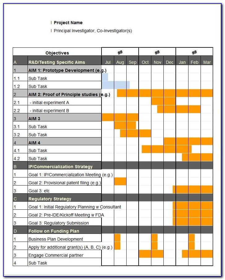 Gantt Chart Template Pro Download