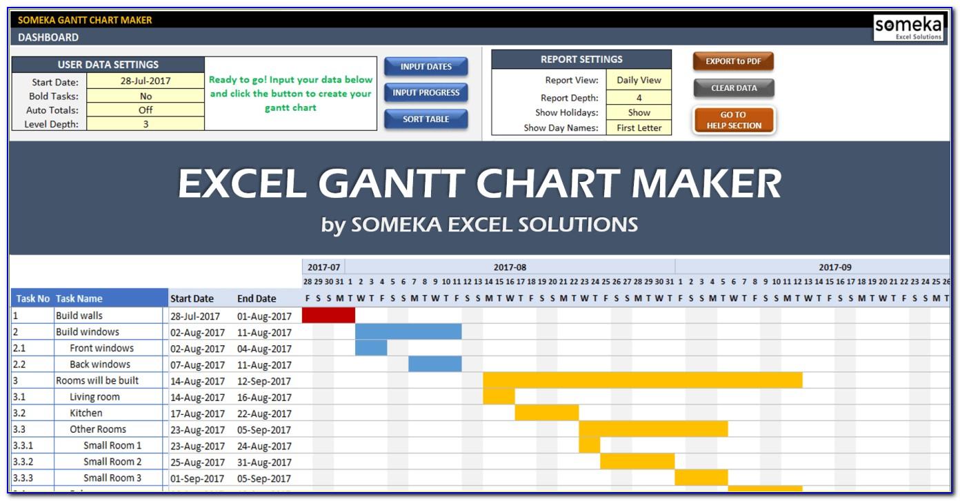 Gantt Diagram Template Excel