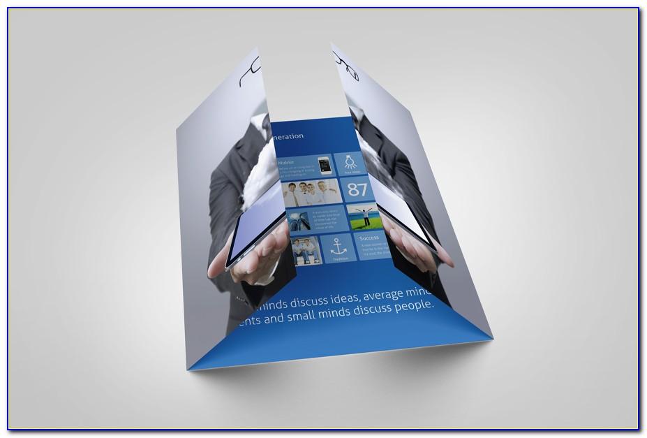Gate Fold Brochure Template Illustrator