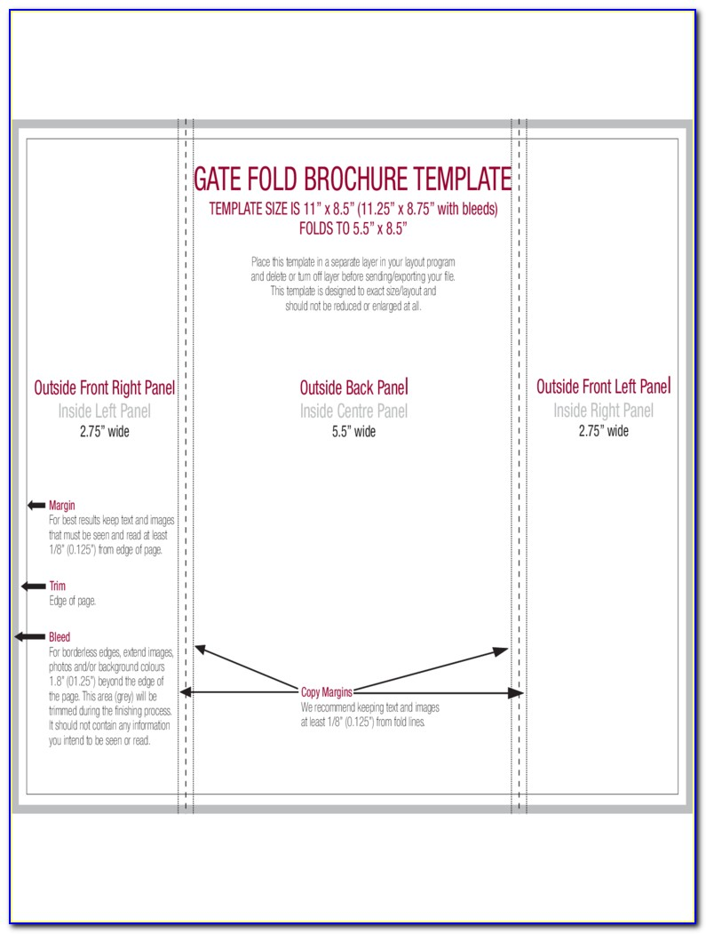 Gate Fold Brochure Template Microsoft Word