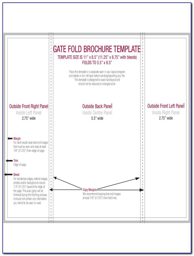 Gate Fold Brochure Templates