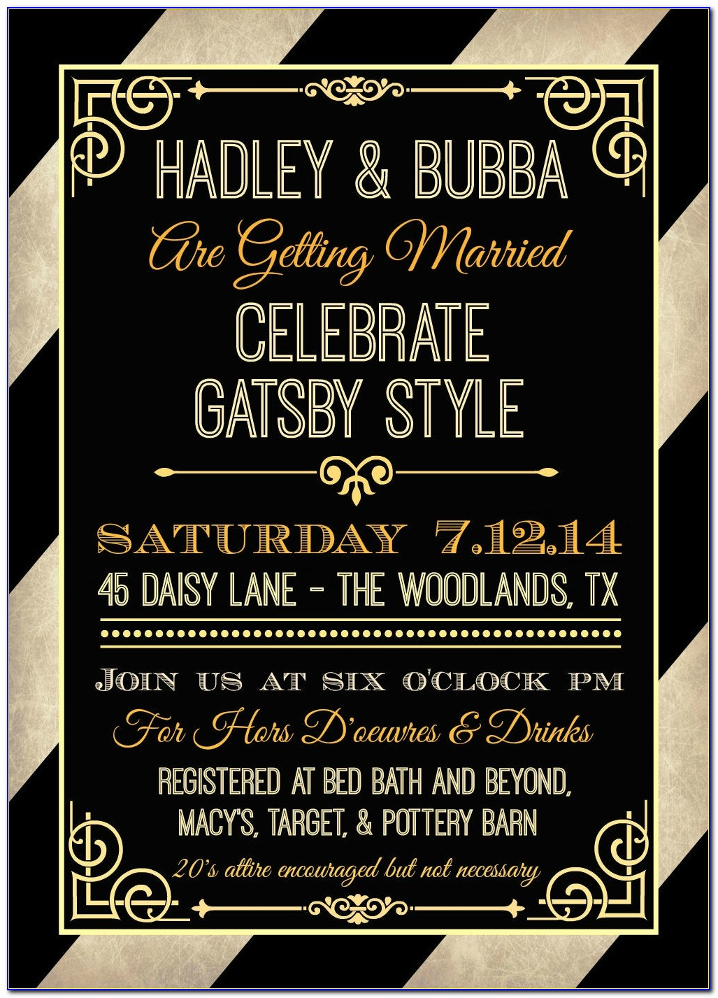 Gatsby Birthday Invite Template