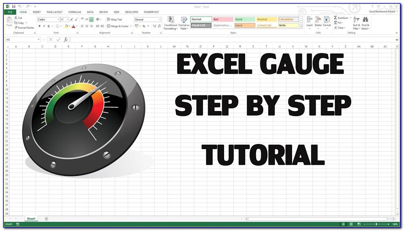 Gauge Chart Excel 2013 Template