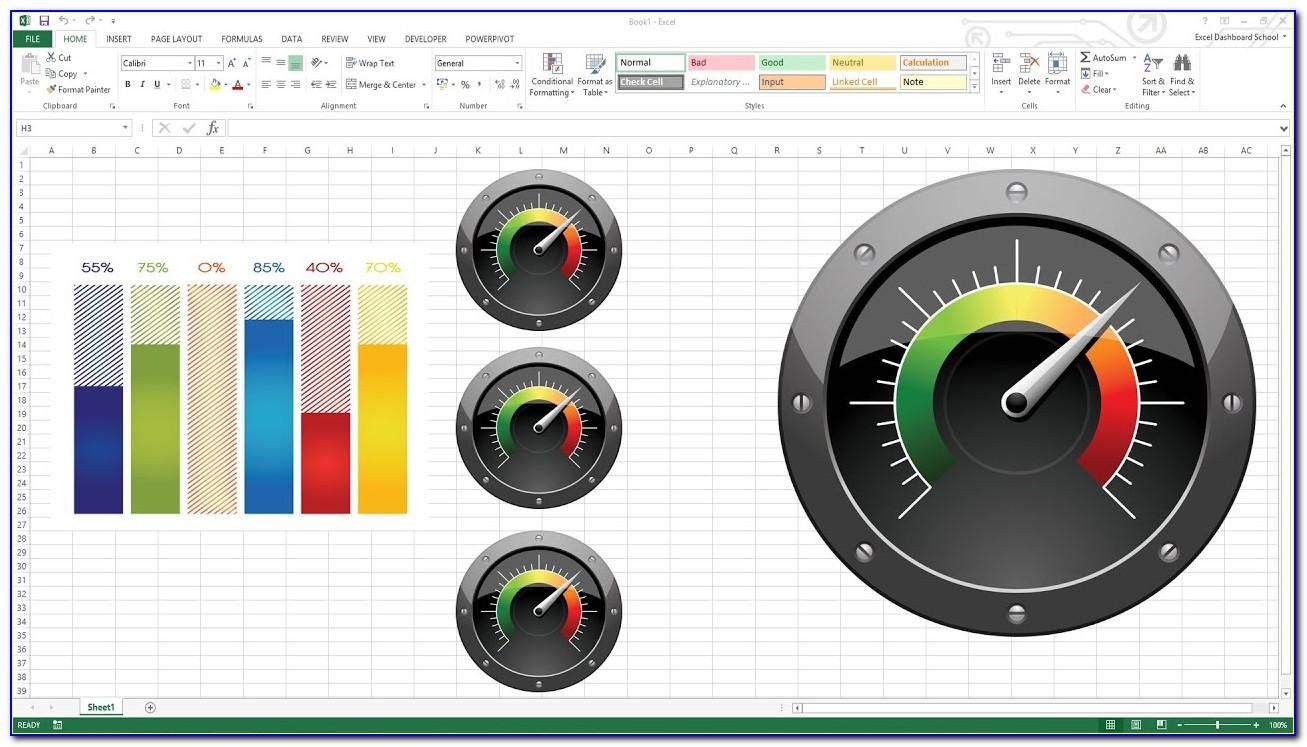 Gauge Chart Excel 2016 Template