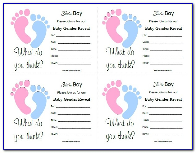 Gender Reveal Announcement Template