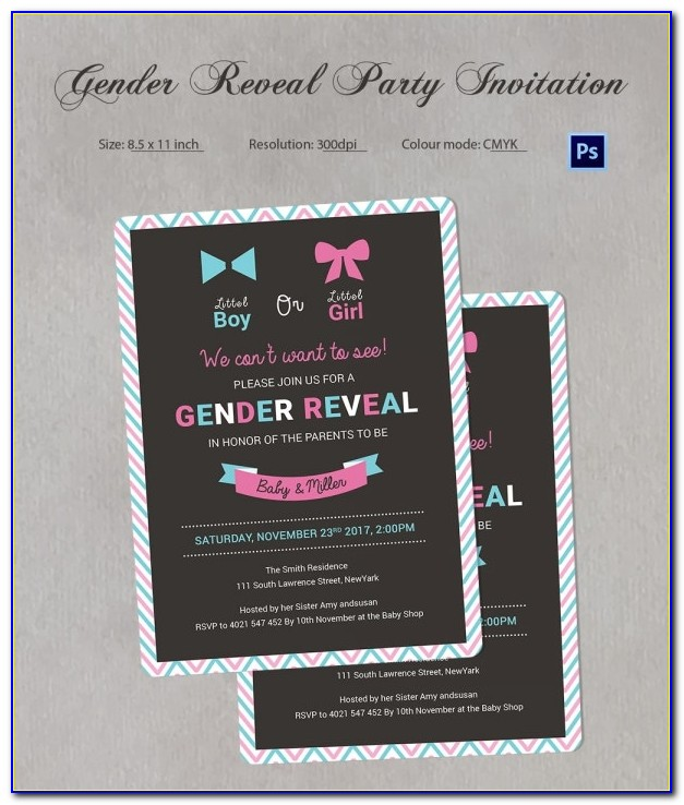 Gender Reveal Invitation Generator