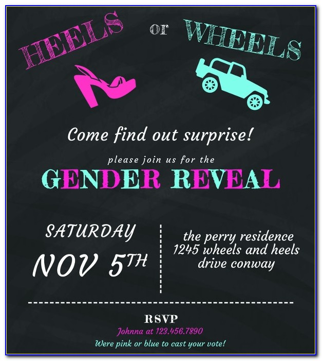 Gender Reveal Invitation Template Download Free
