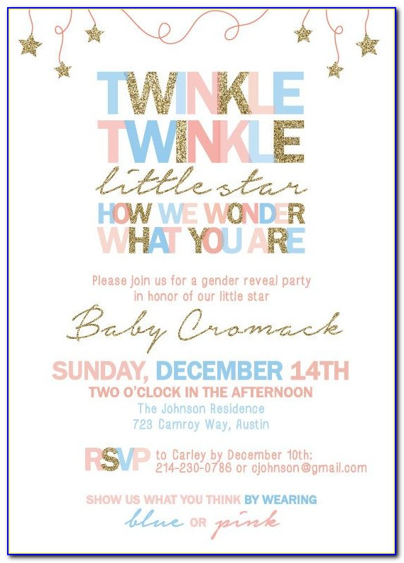 Gender Reveal Invitation Template Download