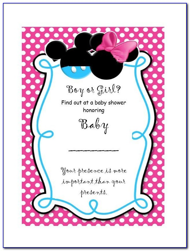 Gender Reveal Invitation Template Free Download