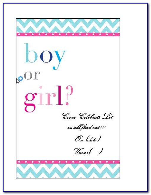 Gender Reveal Party Invitation Maker