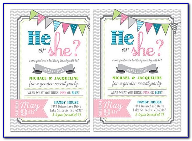 Gender Reveal Scratch Off Template