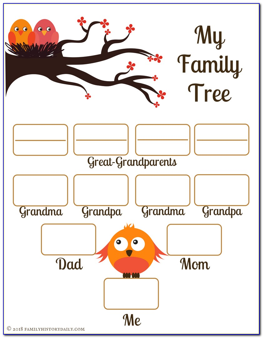 Genealogy Family Tree Template Free