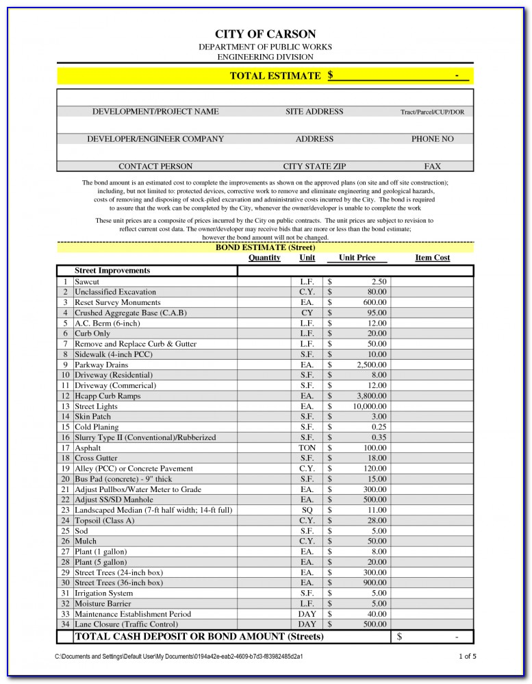 General Contractor Contract Sample