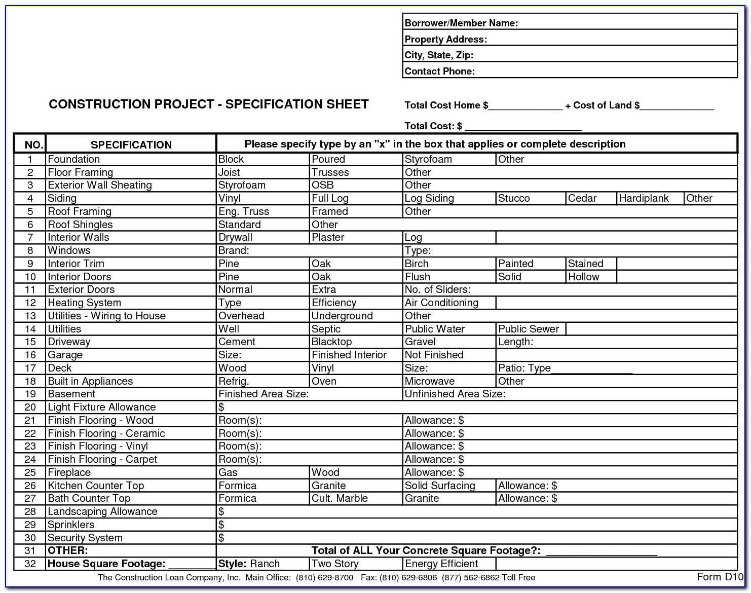 General Contractor Contract Template Cost Plus