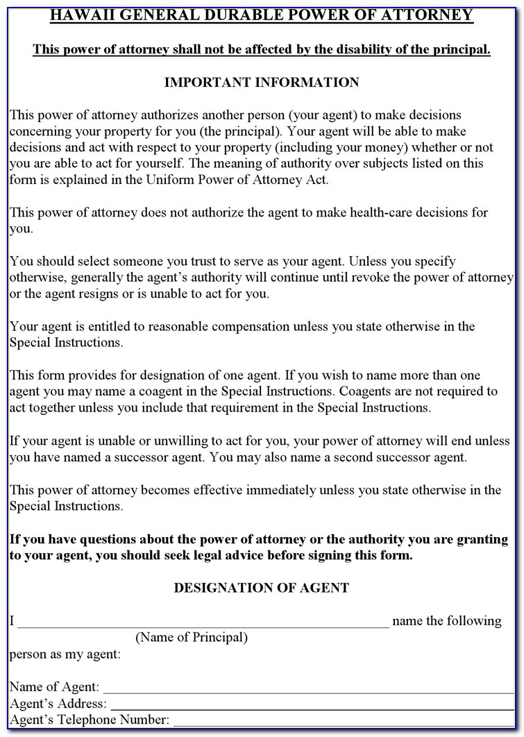 General Durable Power Of Attorney Forms For Virginia