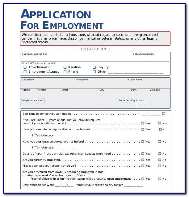 General Job Application Letter Examples