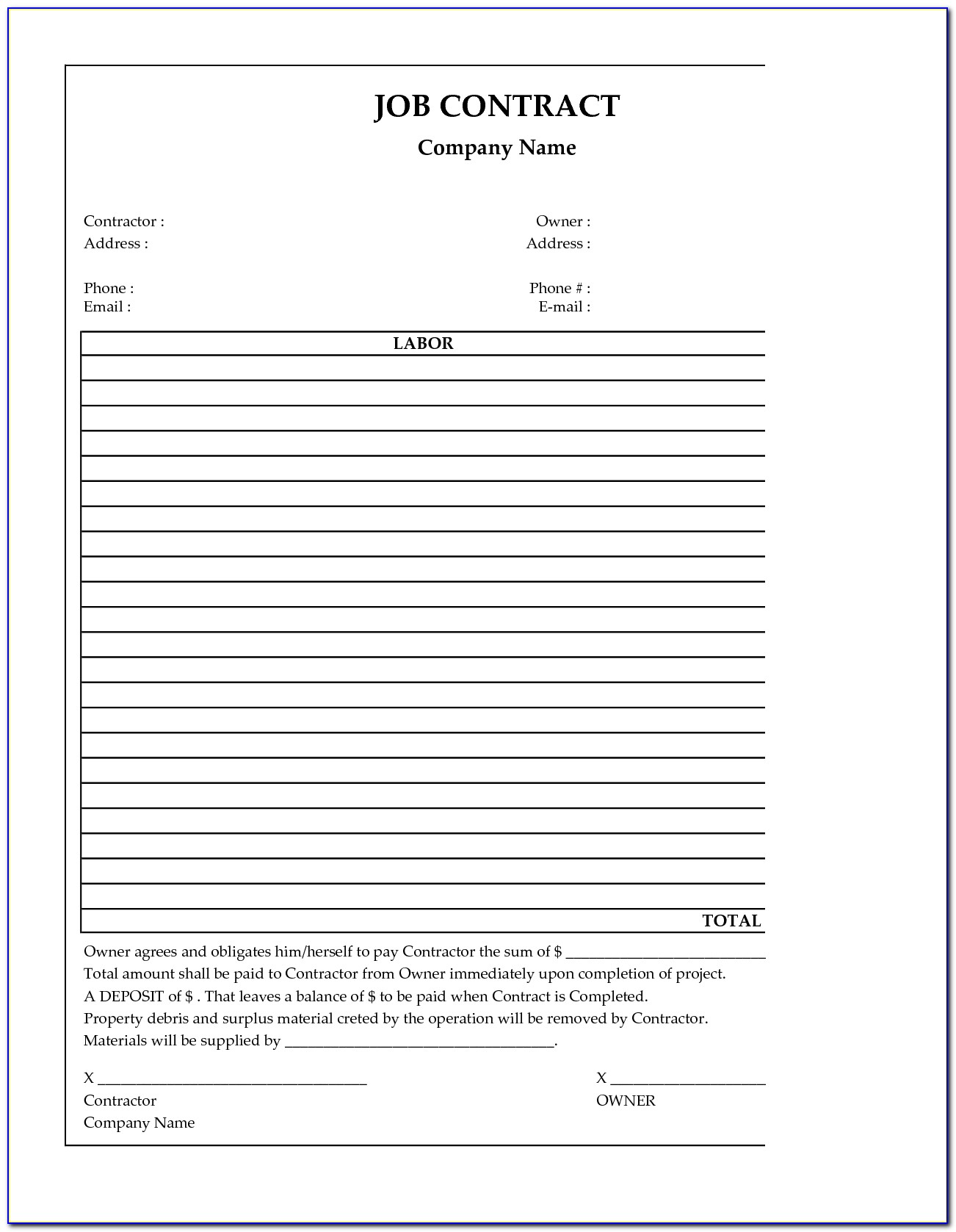 General Labor Resume Objective Examples