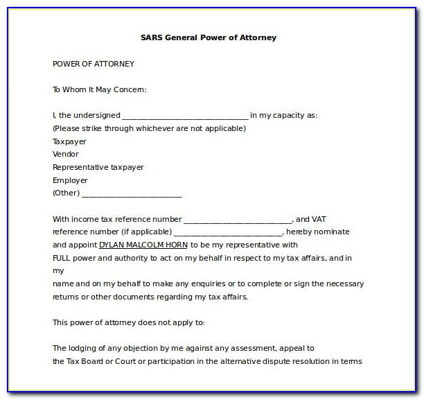 General Power Of Attorney Forms Philippines