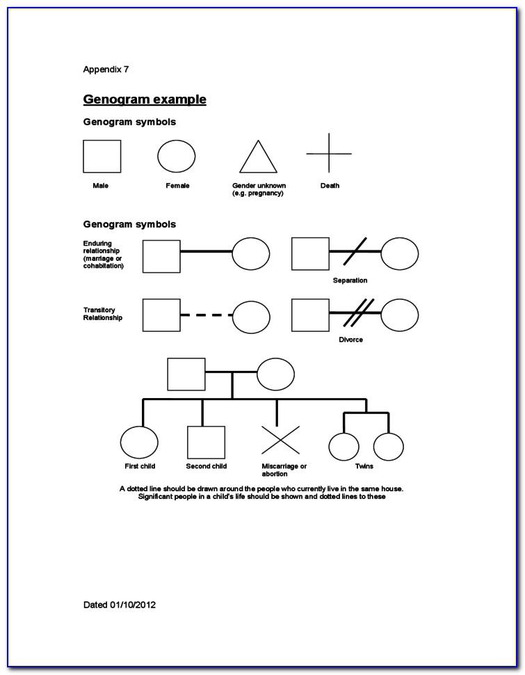 Genogram Template Social Work