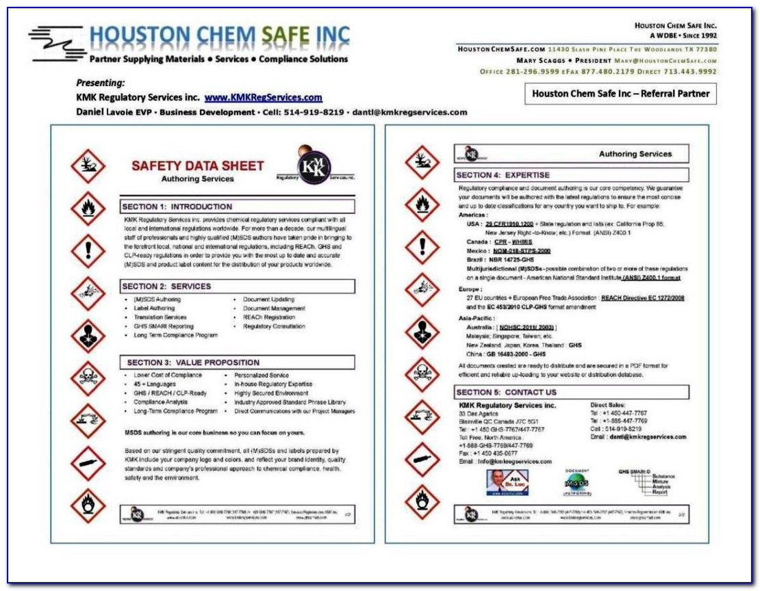 Ghs Safety Data Sheet Template