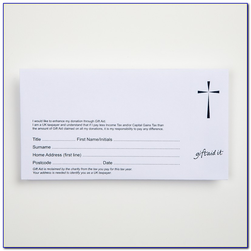 Gift Aid Envelope Template