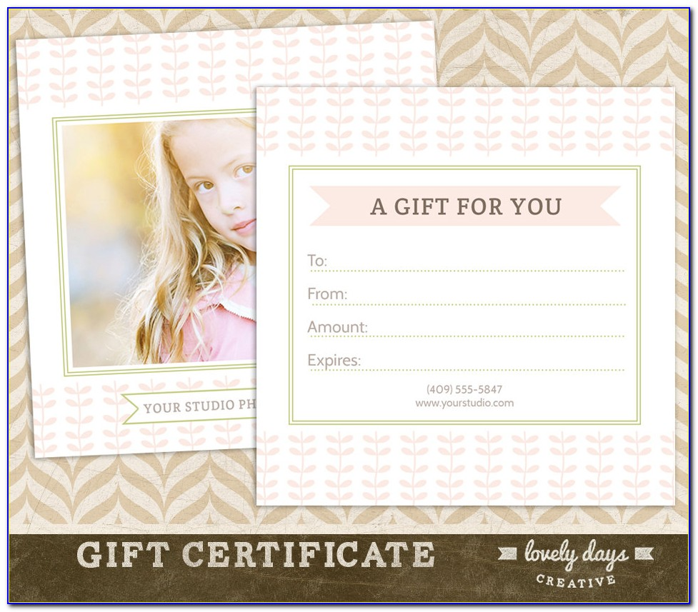 Gift Certificate Template For Photography