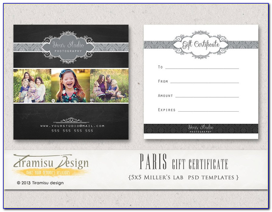 Gift Certificate Template Free Photography