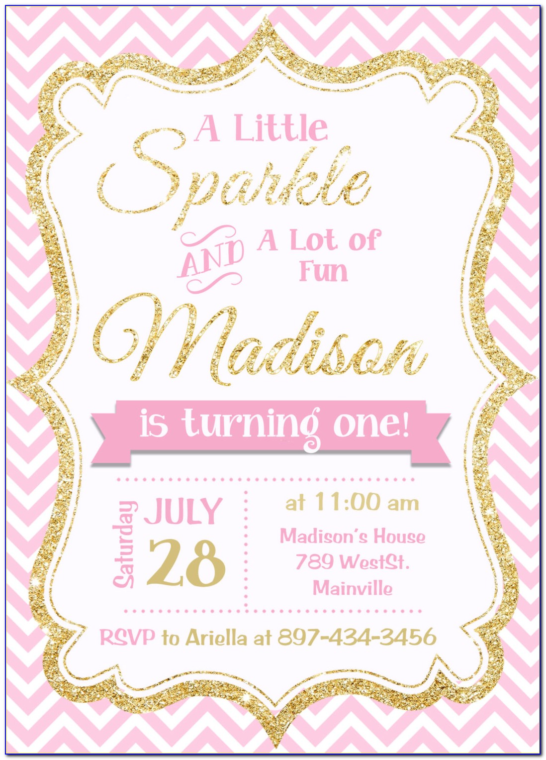 Girl Birthday Invitation Template Free Download