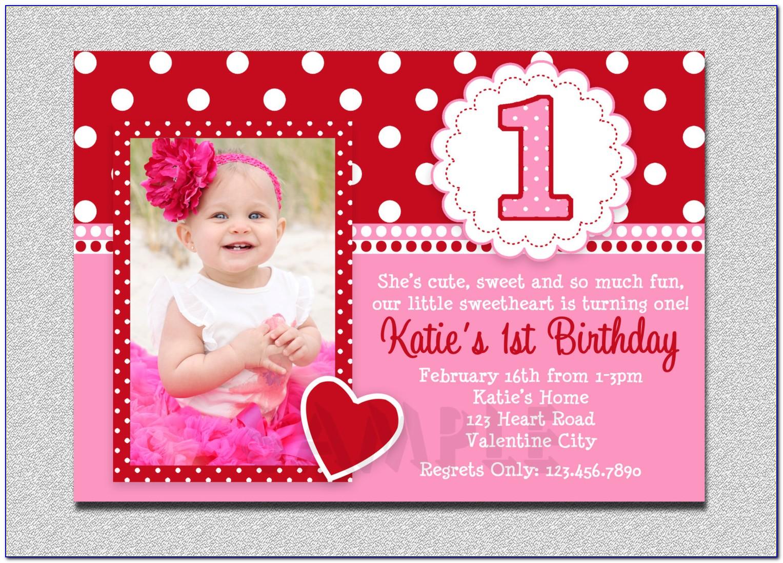 Girl First Birthday Invitation Templates