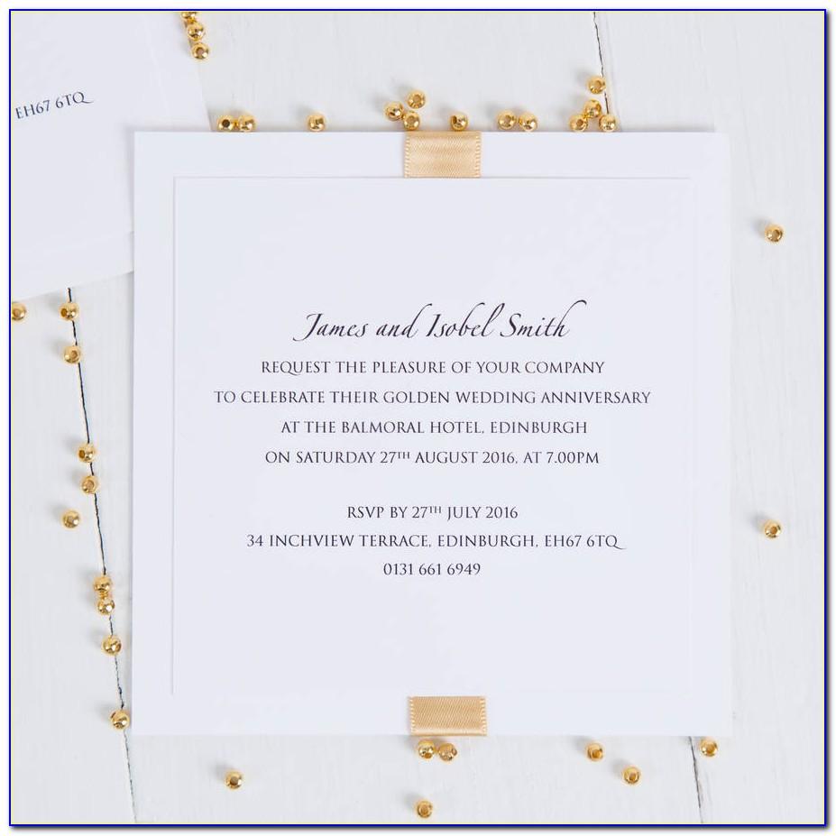 Golden Wedding Invitation Maker